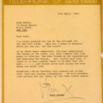 to Andy Warhol | by Mick Jagger